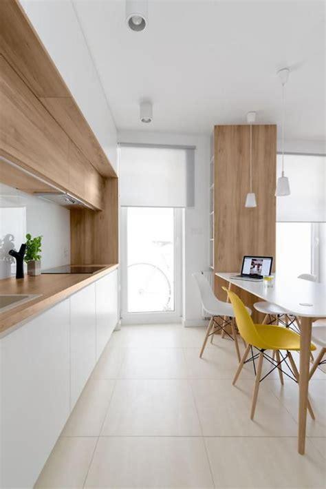 cuisine bois et blanc la cuisine blanche et bois en 102 photos inspirantes cuisines