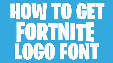 fortnite logo font youtube