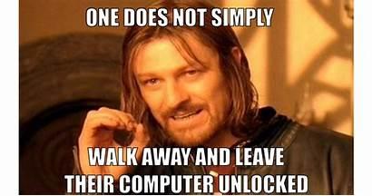 Computer Meme Lock Memes Unlocked Screen Leave