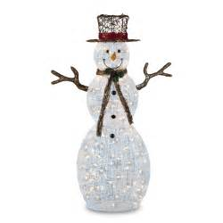trimming traditions 260 121150150 2 50 quot 150 clear light icy snowman decoration