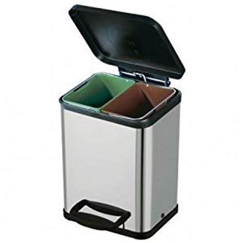 poubelle de cuisine tri selectif poubelle tri sélectif 2 bacs inox amazon fr cuisine maison