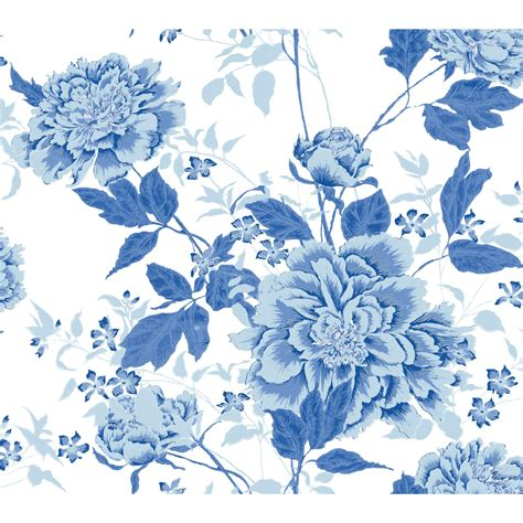 vintage floral blue peel stick wallpaper  drew