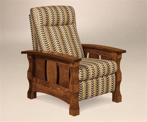 wood side chairs amish mission recliner accent chair balboa slat side solid 1149