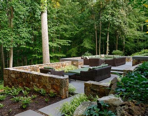 large wood planter mclean virginia landscape patio design retaining walls