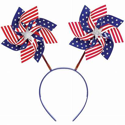 Pinwheel Patriotic Flag American Head Bopper Party