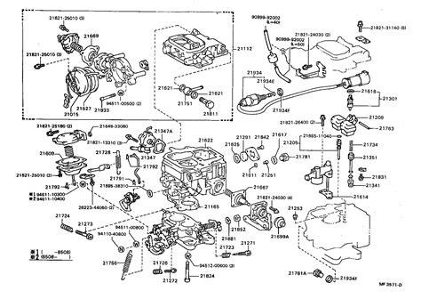 Toyota Carburetor Parts Diagram
