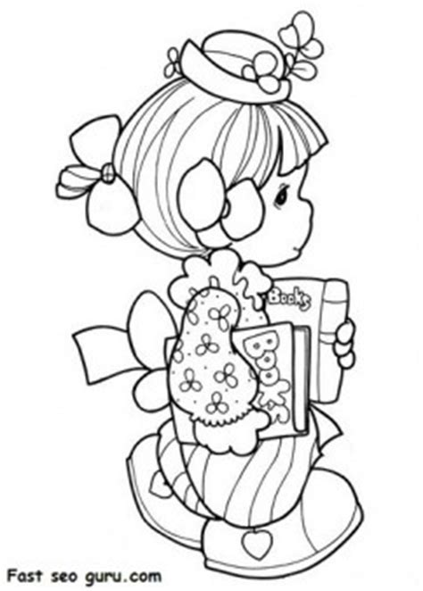precious moments girl   school coloring pages  kids coloring pages printable