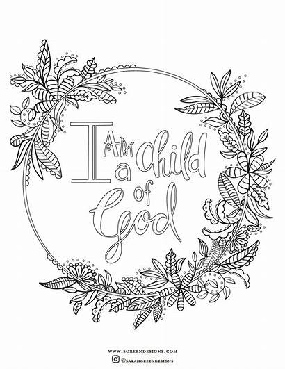 Coloring Christian Pages God Printable Child Am