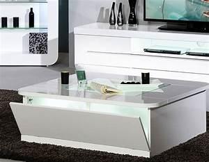 Table Laqué Blanc : table basse carree blanc maison design ~ Teatrodelosmanantiales.com Idées de Décoration