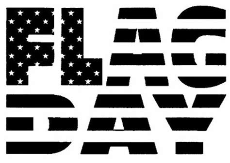 june clipart black and white flag day clipart