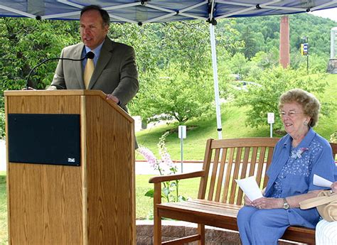 alfred state help desk barbara becker bench dedication alfred state