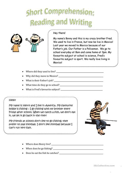 Read Then Answer! Worksheet  Free Esl Printable Worksheets Made By Teachers