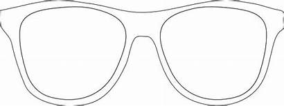 Sunglasses Sunglass Template Frames Printable Clip Glasses