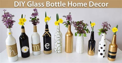 Diy Glass Bottle Home Decor