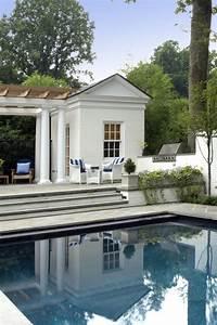 Pool House Addition On Raised Terrace Creates Stunning