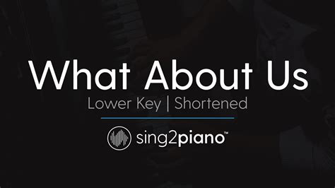 What About Us (shortened) [lower Piano Karaoke] P!nk