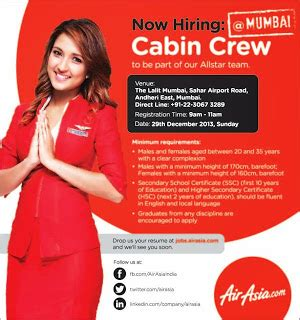 Cabin Crew In Mumbai by Fly Gosh Air Asia India Cabin Crew Walk In