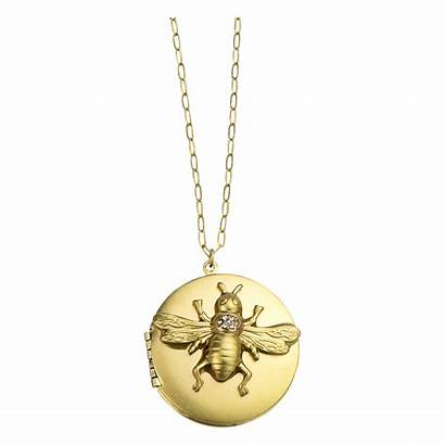 Necklace Gold Locket Bee Wind John Maximal