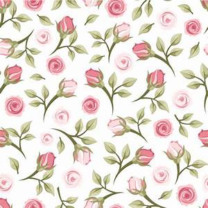 Rose branch seamless background vector rose,branch ...