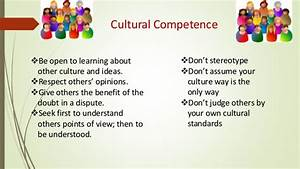 Diversity in th... Cultural Competency