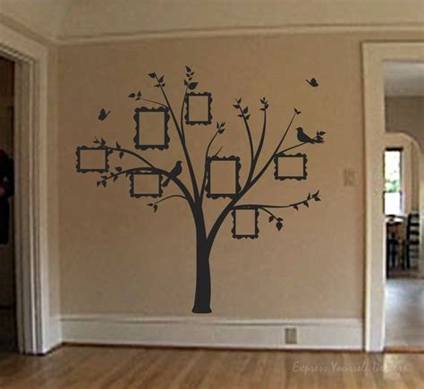 stickers muraux citations pas cher family photo tree wall decal wall decal sticker