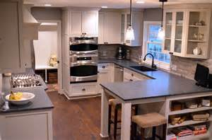 Peninsula Island Kitchen Small Kitchen Floor Plans With Peninsula 1 Wall Decal