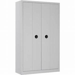 Armoire De Bureau Métallique : armoire de bureau portes pliantes h198 l120 armoire plus ~ Melissatoandfro.com Idées de Décoration