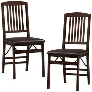 Cosco Wood Folding Chair Mission Style Back by Two Wooden Folding Mission Style Chairs Cosco Chairs