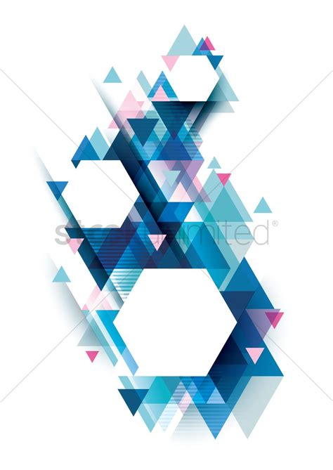 Geometric background design Vector Image - 2006473 ...