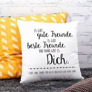 Geschenke Für Beste Freundin : kissen f r die freundin mit ihrem wunschtext bedruckt sch ne geschenke geschenke geschenk ~ Orissabook.com Haus und Dekorationen