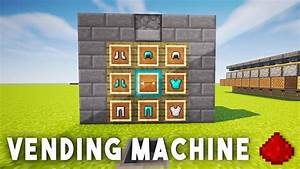 REDSTONE VENDING MACHINE - Minecraft Redstone Tutorial ...
