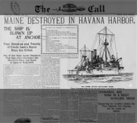 uss maine sinking newspaper the sinking of the uss maine february 15 1898 fishwrap