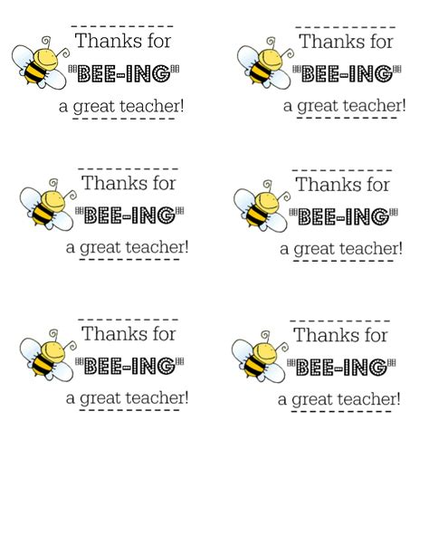 Honey BEE Teacher Gift with Free Printable Tag - I Dig