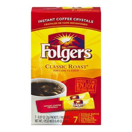 Всегда в наличии 3 pk folgers classic roast instant coffee crystals 100% pure coffee 3 oz с доставкой по рф и снг. UPC 025500201887 - Folgers Instant Coffee Crystals Classic Roast Single Serve Packets - 7 CT ...