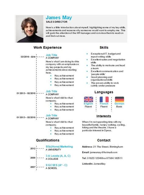 Standard Cv Template Word by Free Curriculum Vitae Templates Creativebooster