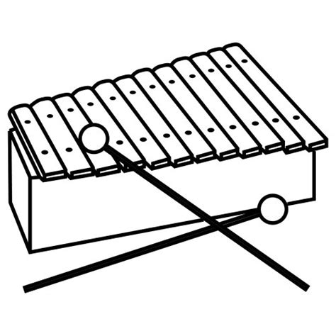 xylophone coloring page clipart