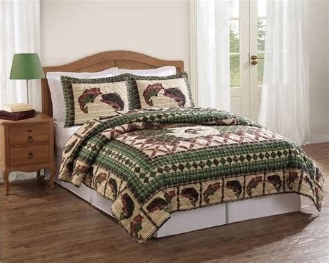 Fishing Boat Quilt by Rustic Fishing Theme Bedding Home Decor