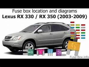 Fuse Box Location And Diagrams  Lexus Rx330    Rx350  2003