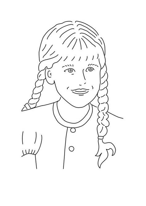 disegni ragazze con trecce disegno da colorare ragazza con le trecce cat 25575