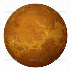 Stock Vector - GraphicRiver Planet Venus Isolated on White ...