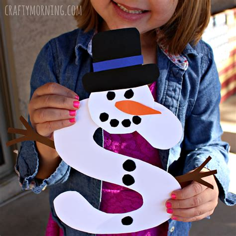s is for snowman winter craft for crafty morning 845 | s is for snowman craft for kids