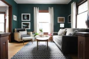 my dark teal living room