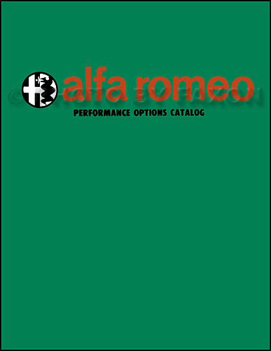 Alfa Romeo Performance Parts by Alfa Romeo Performance Options Parts Catalog 1966 1967
