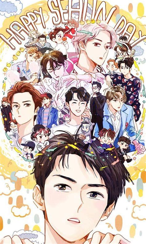 anime suho exo 1000 images about boys illustrations on luhan