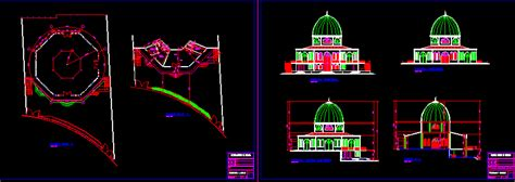 mosque dwg section  autocad designs cad