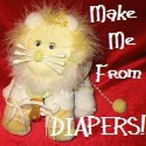 Instructions For A Large Lion Made From Diapers