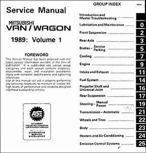1989 Mitsubishi Van  U0026 Wagon Repair Shop Manual 2 Volume Set Original