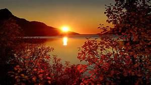 Autumn Sunset Desktop Wallpaper 08249 - Baltana