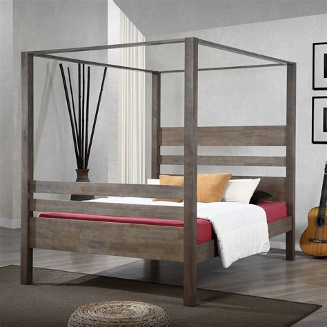 canapé beddinge simple black polished iron canopy bed with white bedding