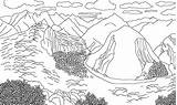 Coloring Mountains Andes Picchu Machu Mountain Range Colorear Colouring Drawings Designlooter Template Imagen sketch template